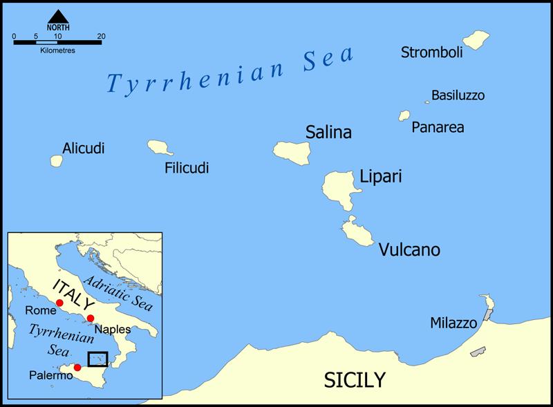 Mapa Wysp Liparyjskich